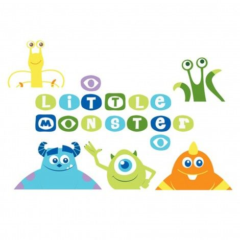 Scare up some fun in your little monster's nursery with these adorable #MonstersU wall decals