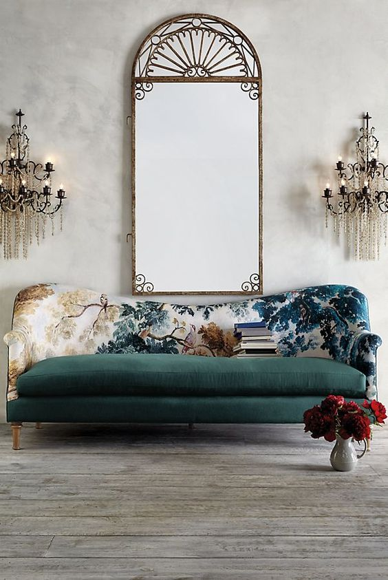 This is the most beautiful sofa I have ever seen! The color and design are stunning. #furniture #livingroom #ad
