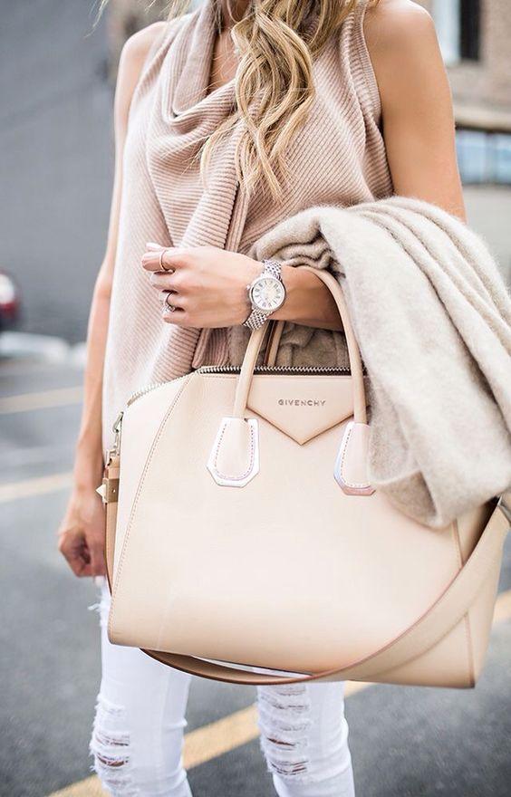 She loves her big handbags! <3