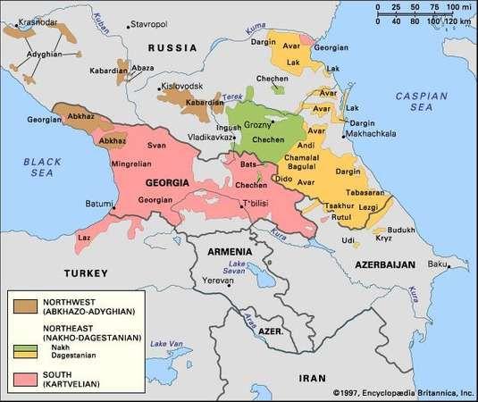 Caucasian Languages Italien Karte Afrika Karte Und Frankreich Karte