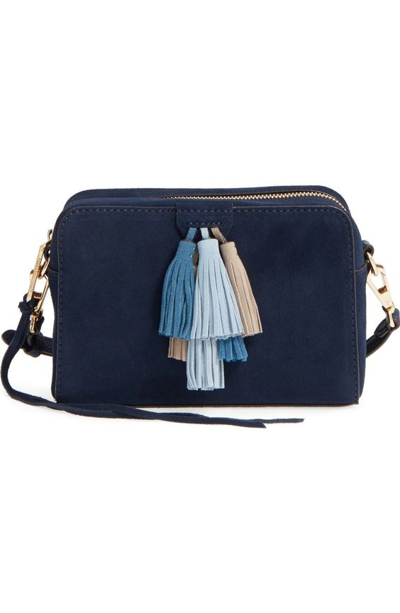 Rebecca Minkoff Sofia crossbody bag in Moon Multi Nubuck