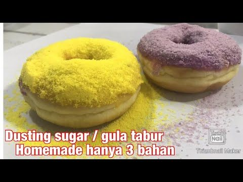 Cara Mudah Membuat Topping Donat Dengan Dusting Sugar Buatan Sendiri Youtube Donat Gula Resep