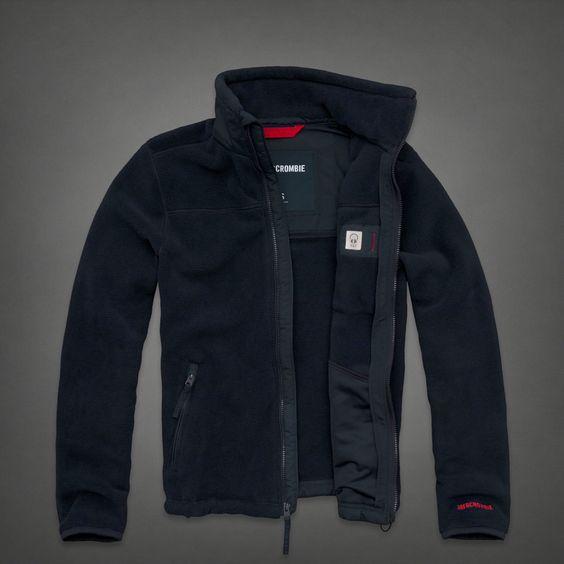 Mens A&ampf Mountain Fleece Jacket | Mens Outerwear | Abercrombie.co