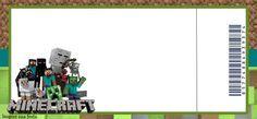 Convite ingresso Minecraft