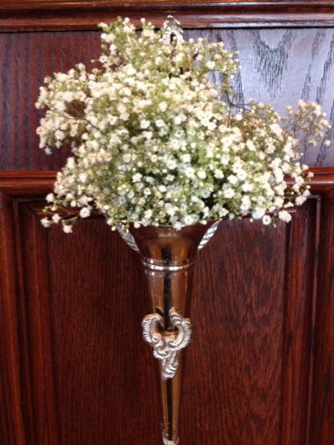 Wedding Flowers With Babys Breath For Pew Decor By Dallas Florist AntebellumDesign