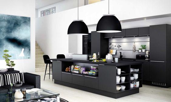 Dark isnu0027t the first theme that comes to mind when designing a - küchenfronten neu beschichten