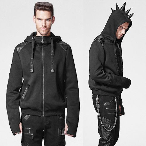 Emo Clothes Men Details about Alternative Black Rhino Horn