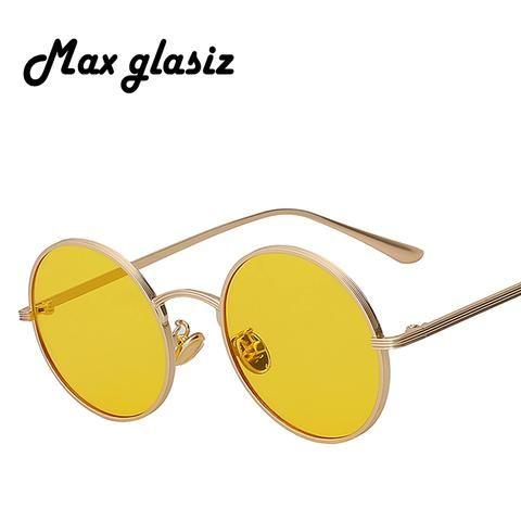 Vintage Retro Round Sun Glasses