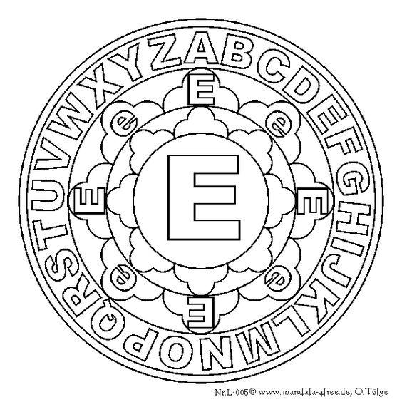 Mandala Letter E Alphabets Pinterest Letter E
