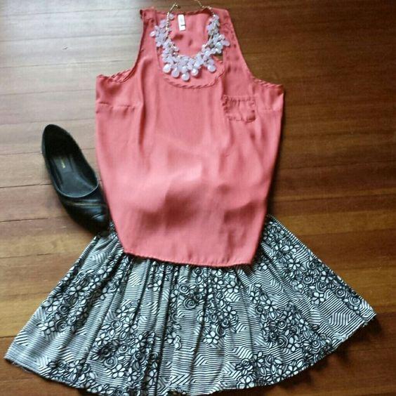 Short skirt Elastic waist rayon skirt. nordstrom  Skirts
