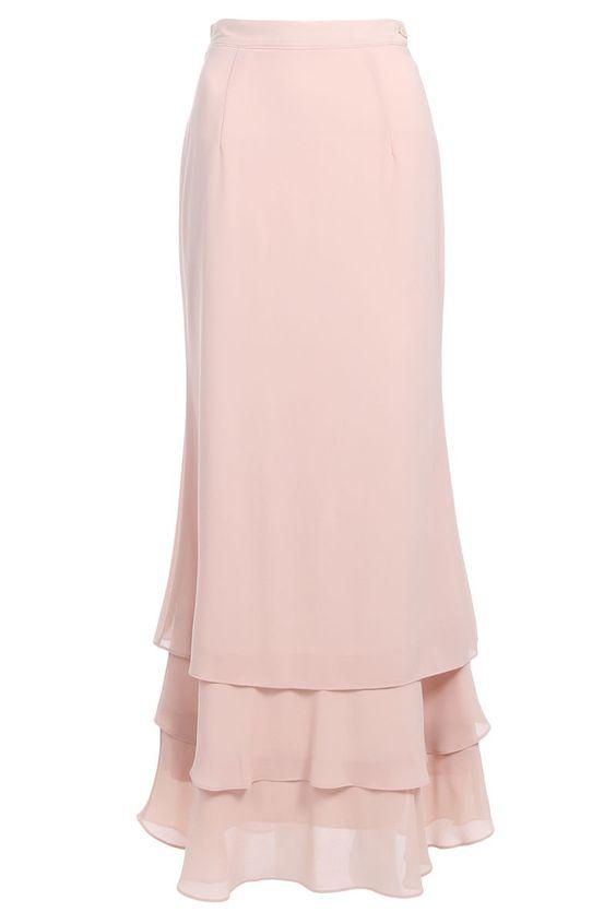 Idayu Ruffle Tier Skirt - Sand                                                                                                                                                      More
