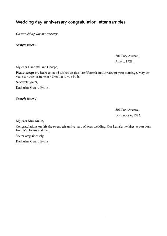 Wedding Congratulations Letter - How to write a congratulations - congratulations letter