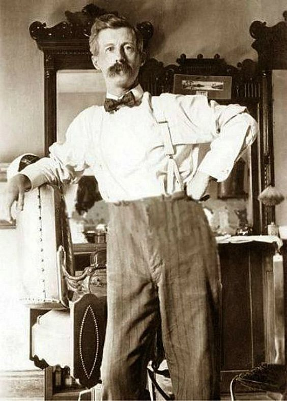 The Proud Town Barber Circa 1900 1920 At The
