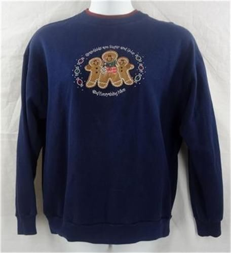 M & C SPORTSWEAR Sweatshirt L Blue Top Grandkids Sugar Spice Long Sleeve Solid $11.88 #MCSportswear #SweatshirtCrew