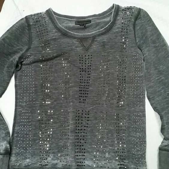 WEEKEND SALE! JEANS BY BUFFALO Faded grey Black and silver accents on front Excellent condition Buffalo Sweaters Crew & Scoop Necks