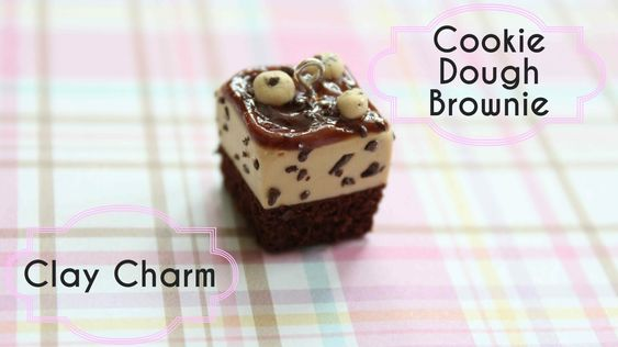 Polymer Clay Cookie Dough Brownie Charm Tutorial