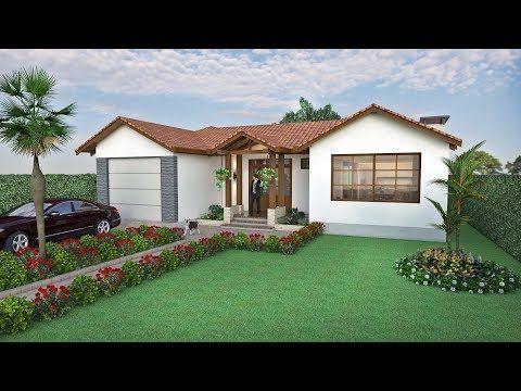 Diseno Casa De Campo En Un Piso De 293 M2 Arquitecto Pablo Restrepo Youtube Disenos De Casas De Campo Marquesinas De Casas Casas De Troncos