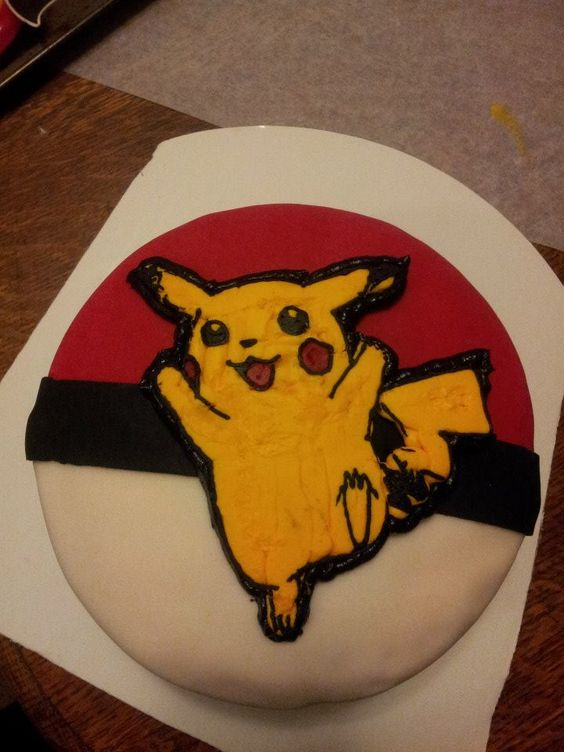 Pikachu White cake with Peanut Butter Filling