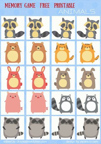 animals memory game free printables preschool daycare pinterest erinnerungen. Black Bedroom Furniture Sets. Home Design Ideas
