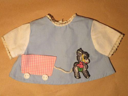 Puppenkleidung-Hemd-Esel-Kleid-50er-60er-Jahre-fuer-ca-30-cm-Puppen