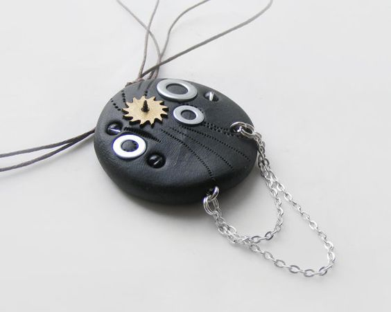 Mens steampunk necklace with chain by kapelusznik, $23.90 #steampunk
