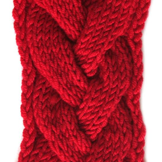 Knitting Cable Stitch Library : Right side of knitting stitch pattern   Cable 8 from Stitch Pattern Library a...