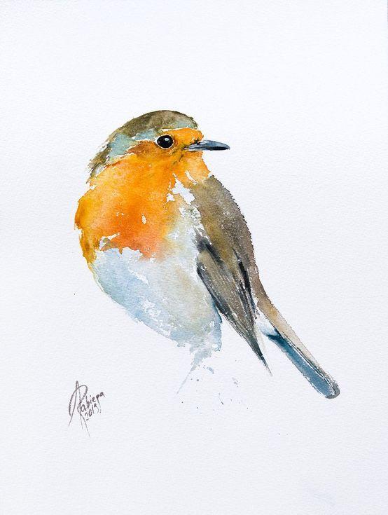 Buy Robin Watercolor By Andrzej Rabiega On Artfinder Discover