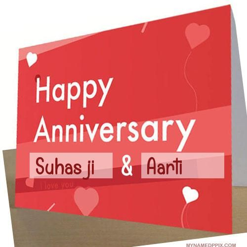 Specially Name Wishes Wedding Anniversary Card Image With Images