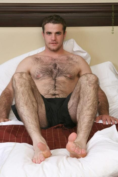 Foot hairy man