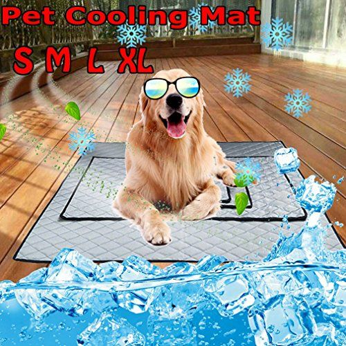 Dodoing Soft Summer Cooling Mat For Dogs Cats Kennel Mat Breathable Travel Indoor And Outdoor Pet Bed Liner Mattress Non To Outdoor Pet Bed Cat Bed Cat Kennel