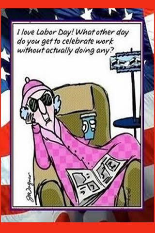 Maxine and her words of wisdom.