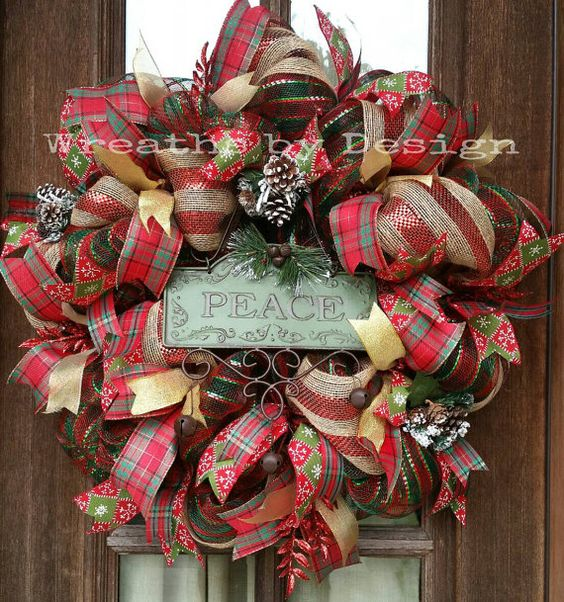Hey, I found this really awesome Etsy listing at https://www.etsy.com/listing/209908199/christmas-peace-mesh-and-burlap-door