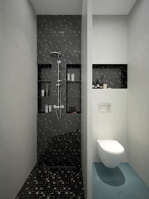 20 Ideas Geniales Para Banos Pequenos Y Modernos Homify Homify Modern Bathroom Tile Small Bathroom Makeover Small Bathroom Remodel