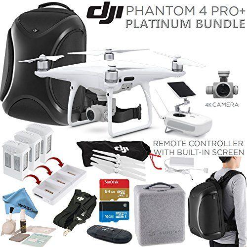 Dji Phantom 4 Pro Pro Plus Quadcopter Dji Cppt000549 W Platinum Bundle Remote W Built In Monitor High Capacity Intelli Quadcopter Dji Phantom 4 Baby Technology