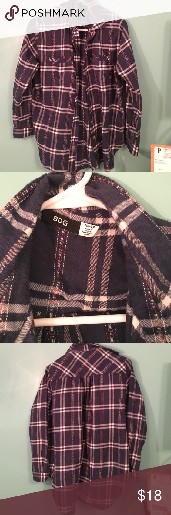 Urban outfitters oversized flannel BDG brand form UO, very oversized, button up Urban Outfitters Tops Button Down Shirts