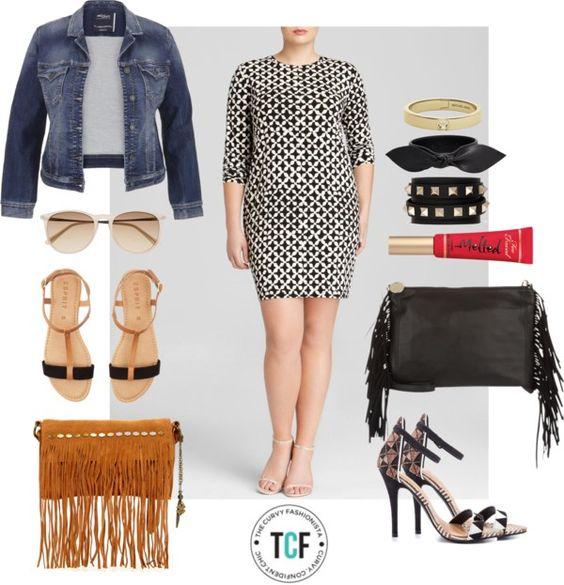 #TCFStyle Find:MICHAEL Michael Kors Plus Musenyi Geometric Print Dress.