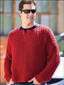 Wine Country Pullover: Mens Crochet Sweaters - free ...