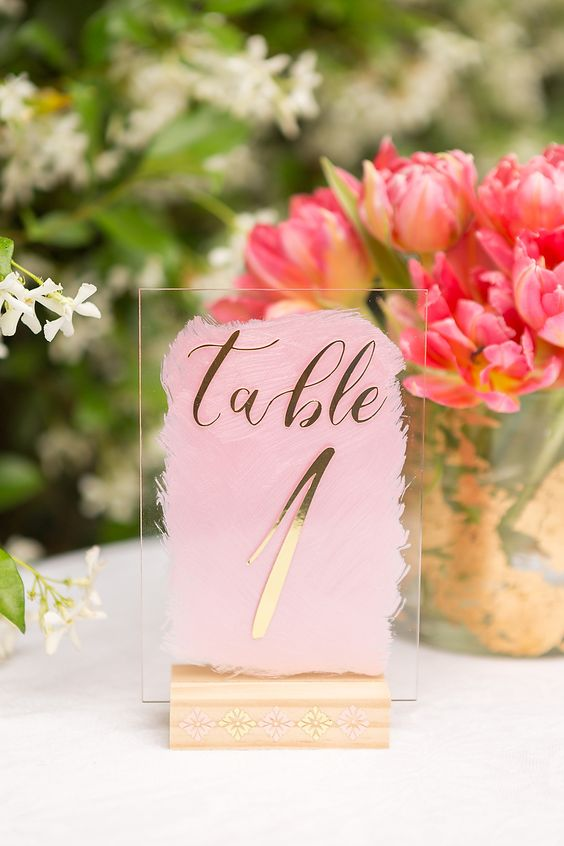 DIY Acrylic Table Numbers With Cricut And Martha Stewart #ad