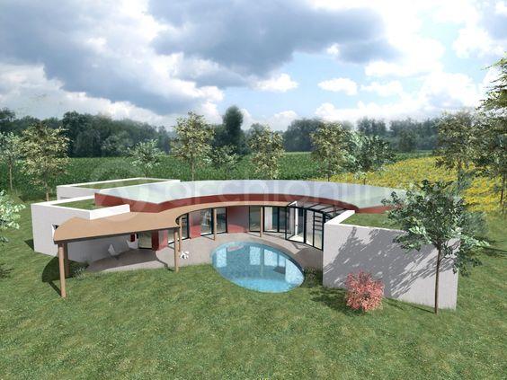 izon une atypique villa moderne de plain pied archionline contemporary house - Villa Plain Pied De Luxe