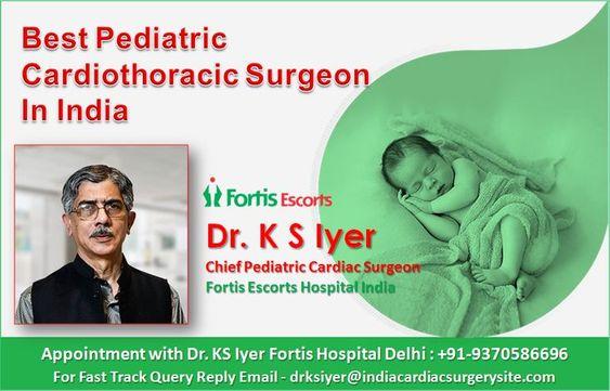 Top paediatric cardiothoracic surgeon India