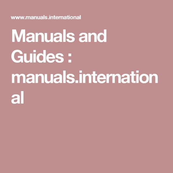 Manuals and Guides : manuals.international