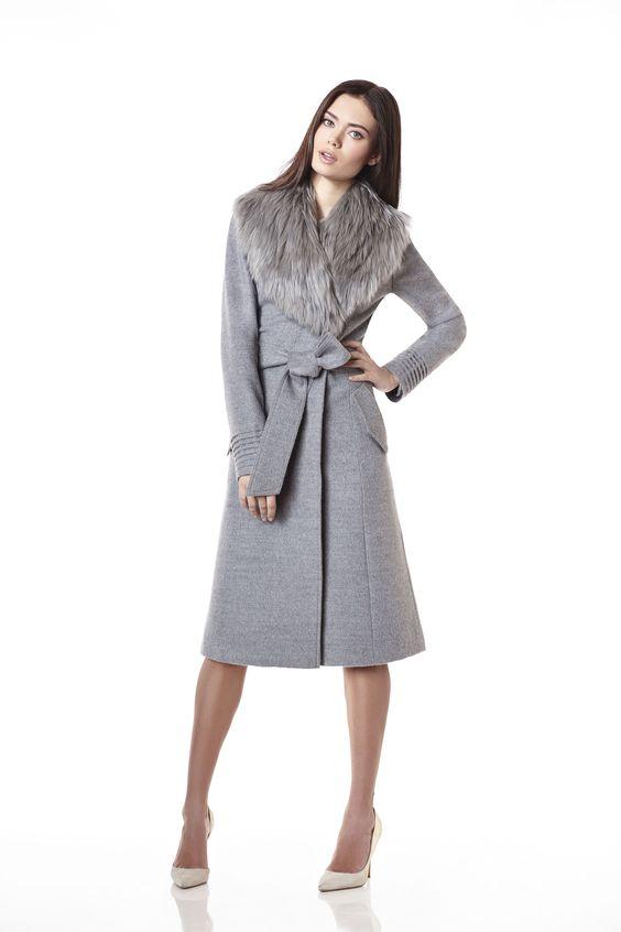 Long Coat with Baby Alpaca Fur Collar | Sentaler Luxury Designer