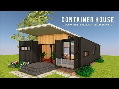 Modern Container House Design Floor Plans Saddlebox 640 Youtube Container House Container House Design Floor Plan Design