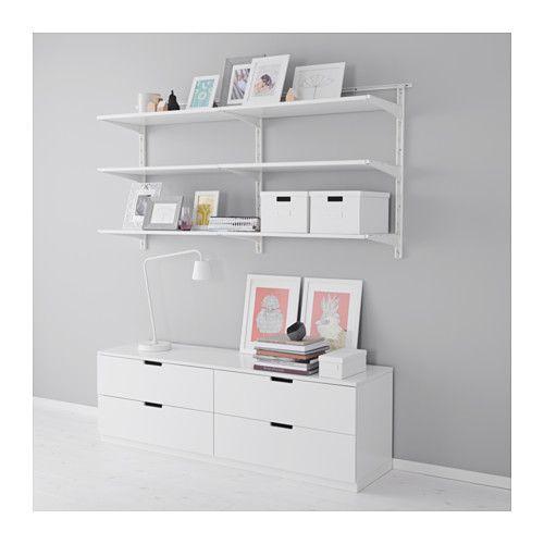 IKEA - ALGOT, Crémaillère/tablettes, Les éléments de la série ALGOT se combinent…