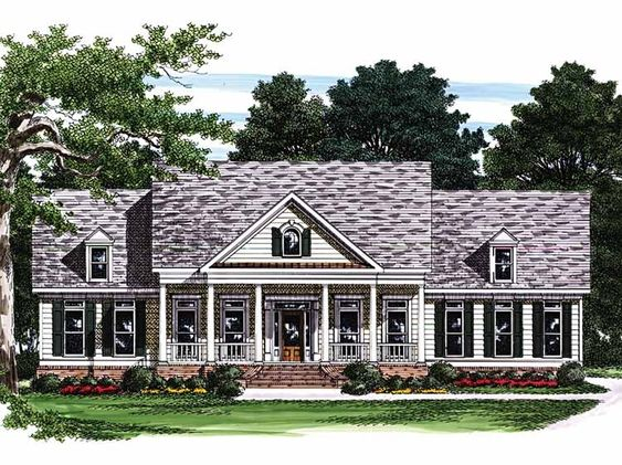 Greek Revival House Plan With 2306 Square Feet And 4
