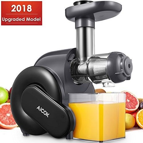 Juicer Aicok Slow Masticating Juice Extractor With Reverse Function Cold Press Juicer With Quiet Motor Juice Jug And Brush For High Nutrient Juice Cold Press Juicer Juice Extractor Juicer Reviews