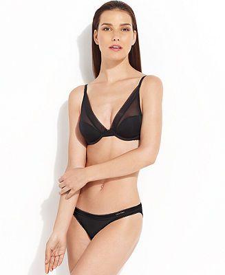 Calvin Klein Icon Provocative Plunge Bra and Bikini - Lingerie Sets - Women - Macy's
