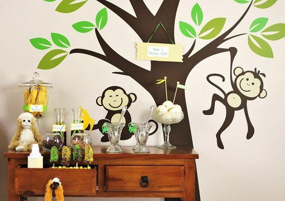 Monkeys & bananas ice cream sundae bar