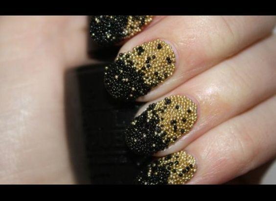 Caviar inspired nails
