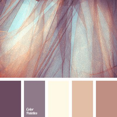 This scheme elegantly combines brown dark violet beige for Brown beige paint color